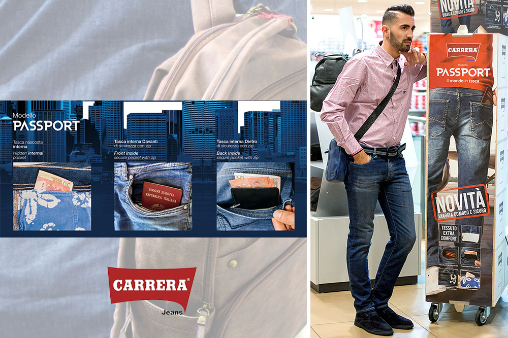 PittaRosso, spazio ai jeans Carrera